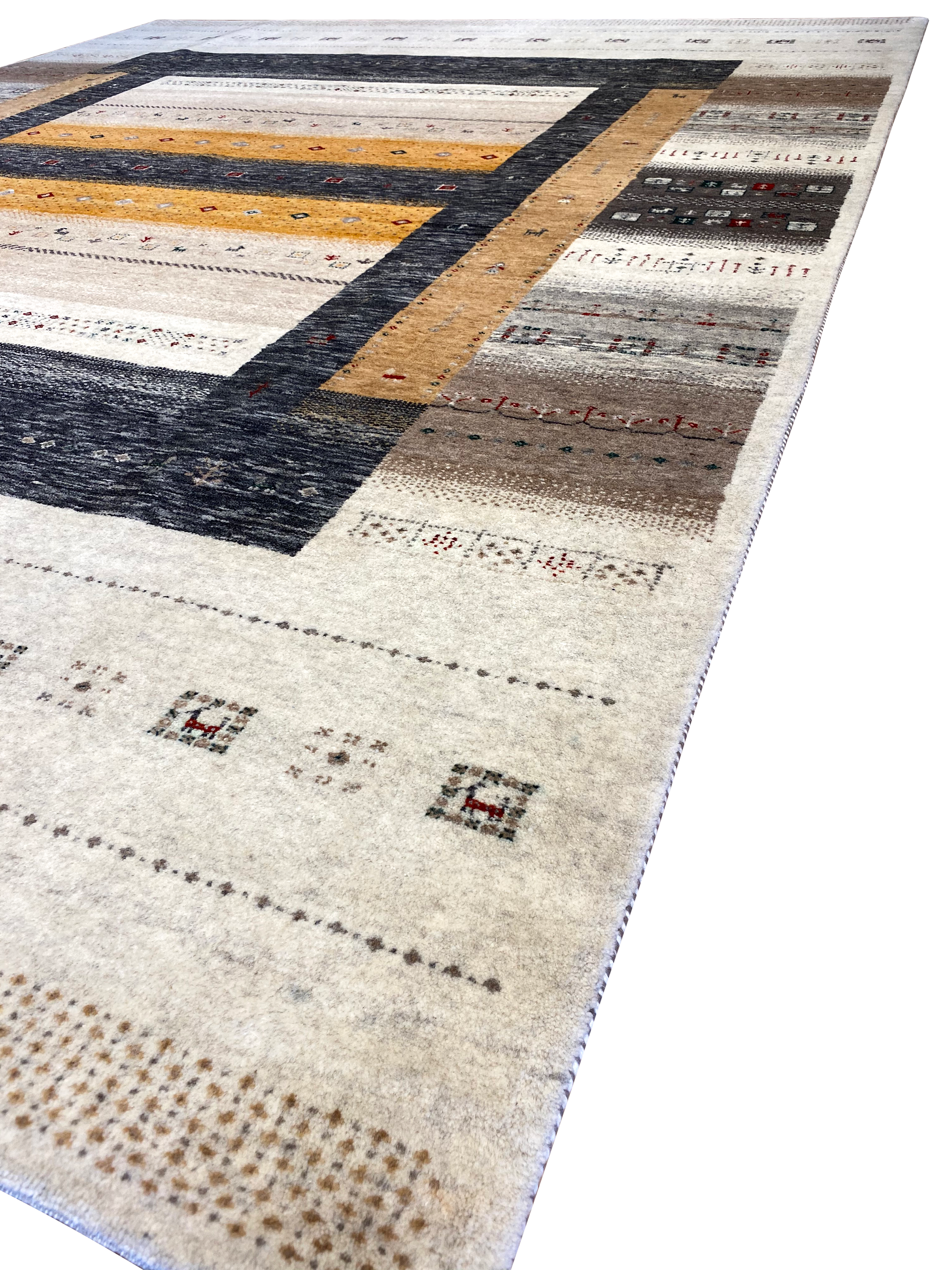 Gabbeh 8'  x 10' Wool Handmade Area Rug - Shabahang Royal Carpet