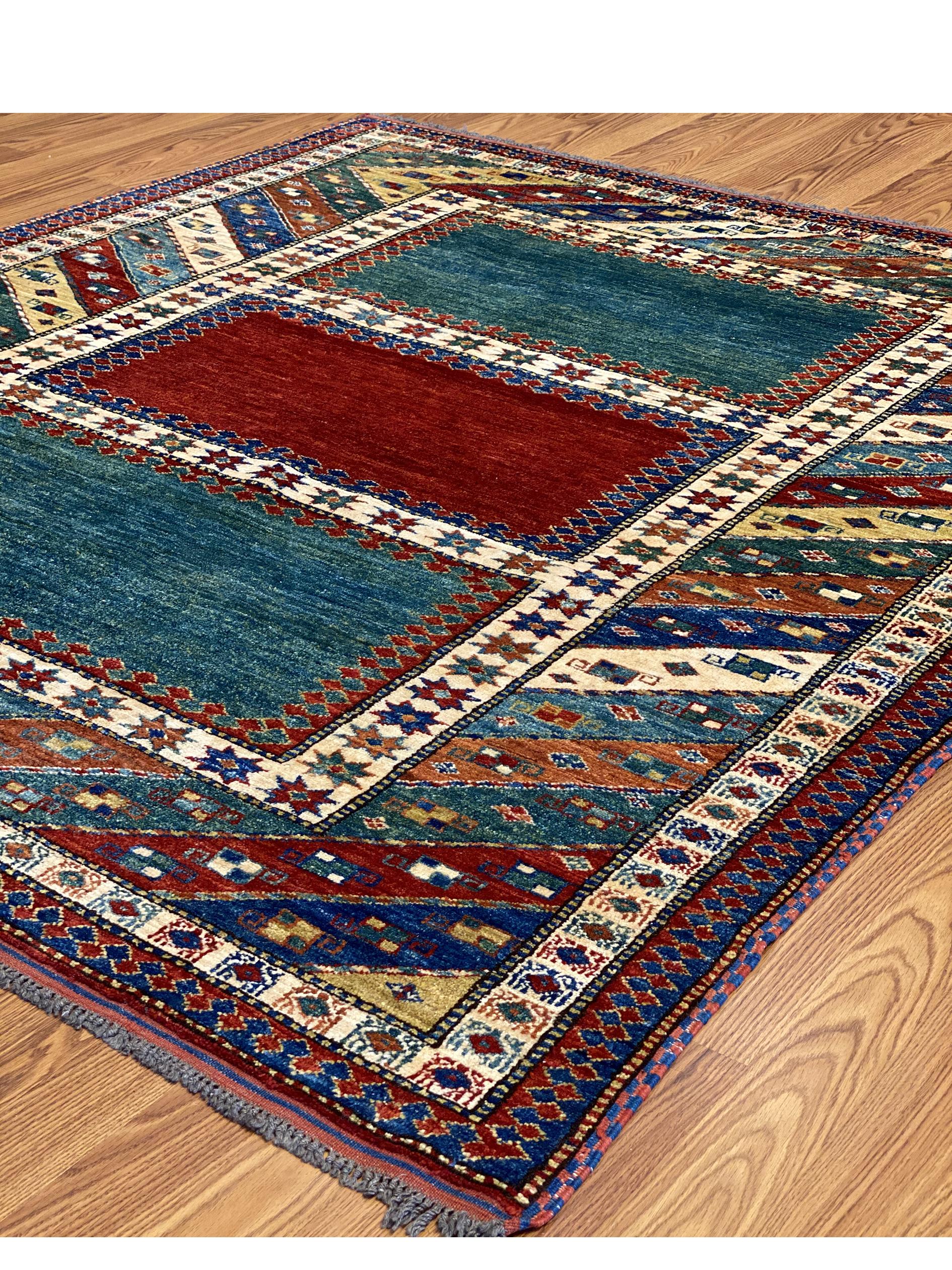 Caucasion 5' x 6' Handmade Area Rug - Shabahang Royal Carpet