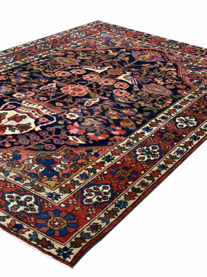 "Antique Persian Bakhtiari 4' 10"" x 6' 10"" Handmade Wool Area Rug - Shabahang Royal Carpet"