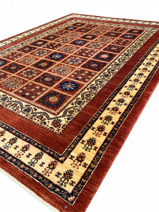 "Persian Gabbeh 4' 10"" x 6' 8"" Wool Handmade Area Rug - Shabahang Royal Carpet"