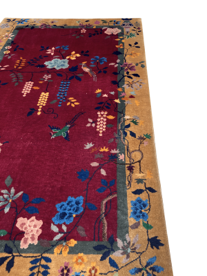 Antique Chinese Nichols Rug 4' 1