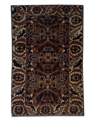 "Balouchi Tribal 2' 6"" x 4' 4"" Brown Wool Handmade Area Rug - Shabahang Royal Carpet"