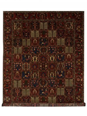 "Vintage Persian Bakhtiari 8' 2"" x 11' 3"" Handmade Wool Area Rug - Shabahang Royal Carpet"