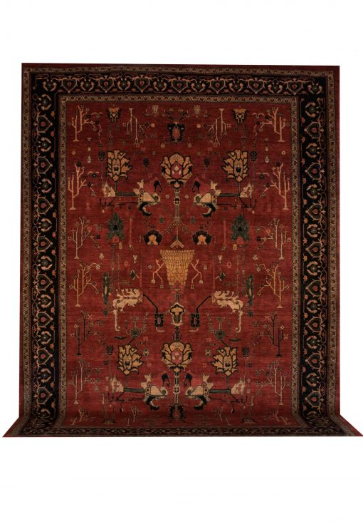 "Persian Kermanshahi 9' 1"" x 12' 4"" Handmade Area Rug - Shabahang Royal Carpet"