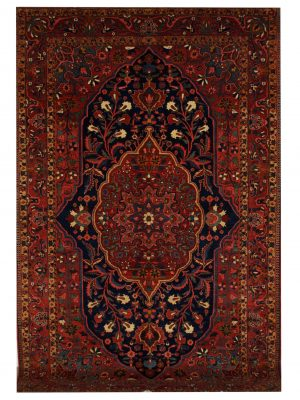 "Antique Persian Bakhtiari 7' 2"" x 10' 8"" Handmade Wool Area Rug - Shabahang Royal Carpet"
