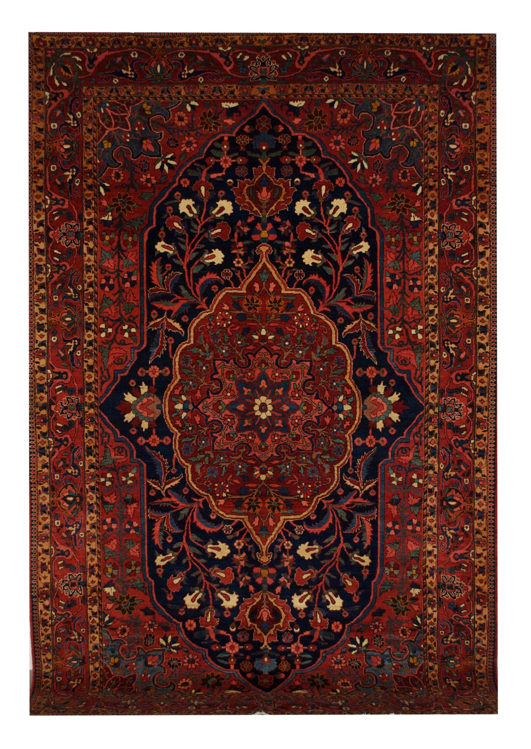 "Antique Persian Bakhtiari 7' 2"" x 10' 8"" Handmade Wool Area Rug - Shabahang Royal Carpet"