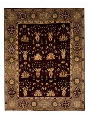 "Persian Agra 7' 8"" x 9' 7"" Wool Handmade Area Rug - Shabahang Royal Carpet"