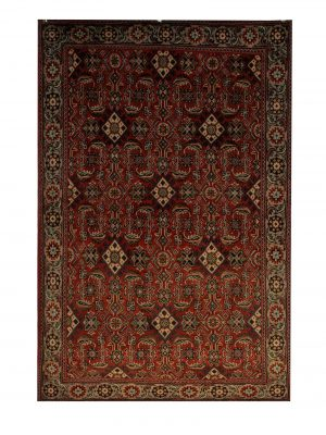 "Persian Hamadan 3' 5"" x 5' 1"" Wool Handmade Area Rug - Shabahang Royal Carpet"