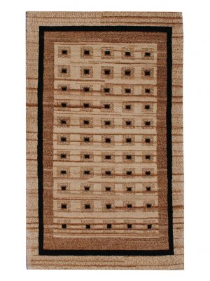 "Gabbeh 2' 7"" x 4' 1"" Undyed Natural Wool Handmade Area Rug - Shabahang Royal Carpet"