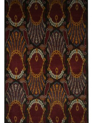 "Ikat 4' 2"" x 6' 4"" Handmade Area Rug - Shabahang Royal Carpet"