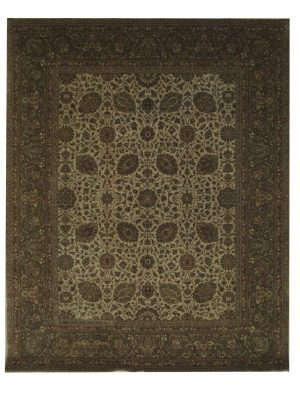"Kashan 7' 11"" x 9' 9"" Wool Handmade Area Rug - Shabahang Royal Carpet"