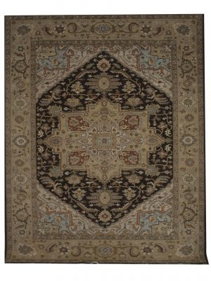 "Heriz 7' 10"" x 9' 10"" Wool Handmade Area Rug - Shabahang Royal Carpet"
