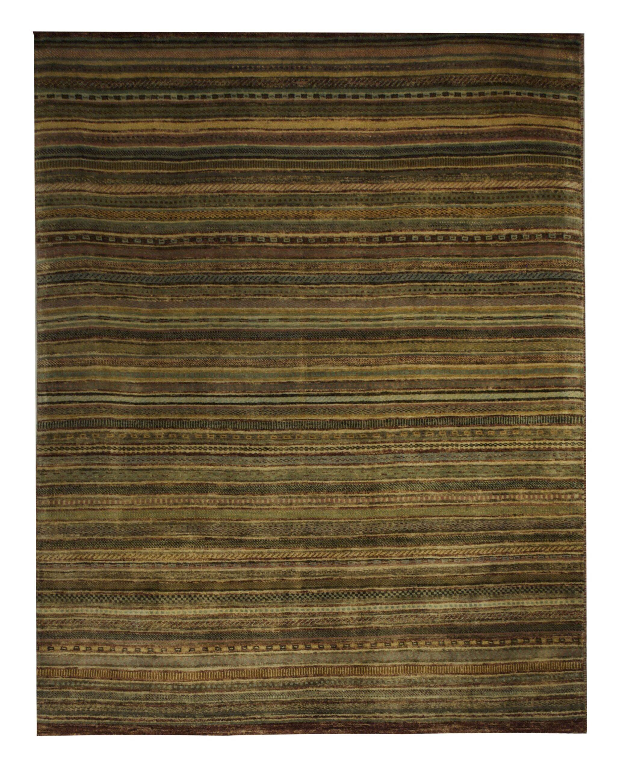 "Gabbeh 4' 6"" x 5' 10"" Wool Handmade Area Rug - Shabahang Royal Carpet"