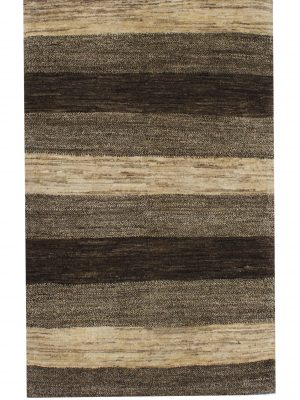 "Gabbeh 2' 7"" x 4' Undyed Natural Wool Handmade Area Rug - Shabahang Royal Carpet"