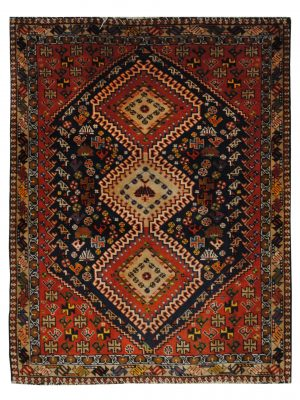 "Persian Yallameh 3' 7"" x 4' 8"" Handmade Area Rug - Shabahang Royal Carpet"