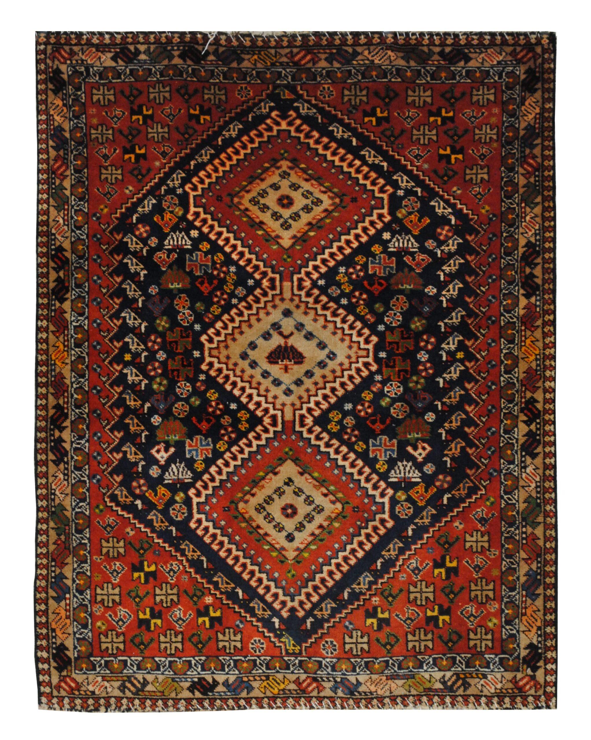 "Persian Yallameh 3' 7"" x 4' 8"" Handmade Area Rug - Shabahang Royal Carpet"