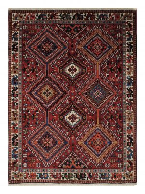 "Persian Yallameh 3' 7"" x 4' 10"" Handmade Area Rug - Shabahang Royal Carpet"