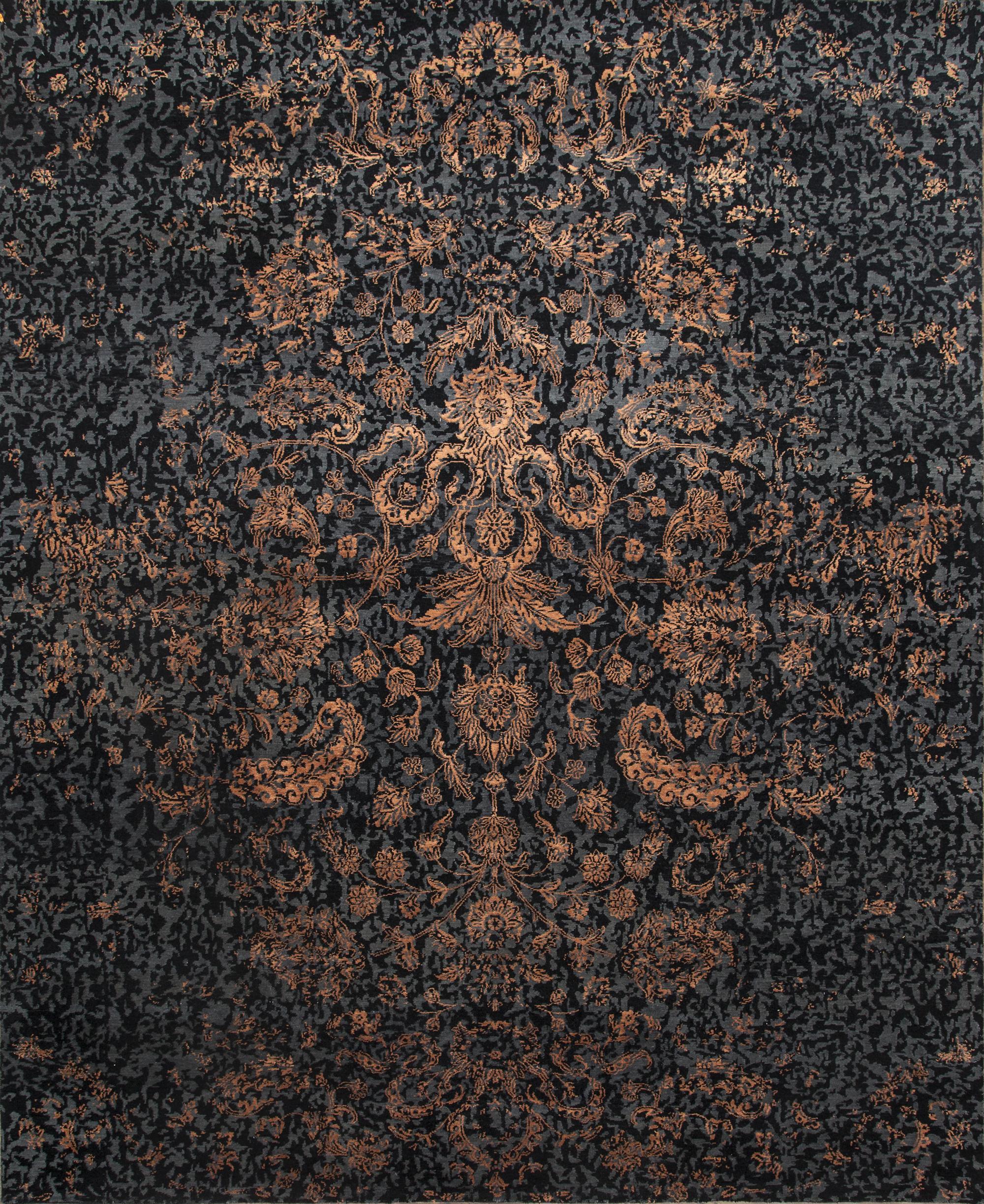 Erased Heritage 8' x 10' Handmade Area Rug - Shabahang Royal Carpet