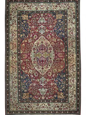 "Antique Persian Esfahan 4' 4"" x 7' 1"" - Shabahang Royal Carpet"