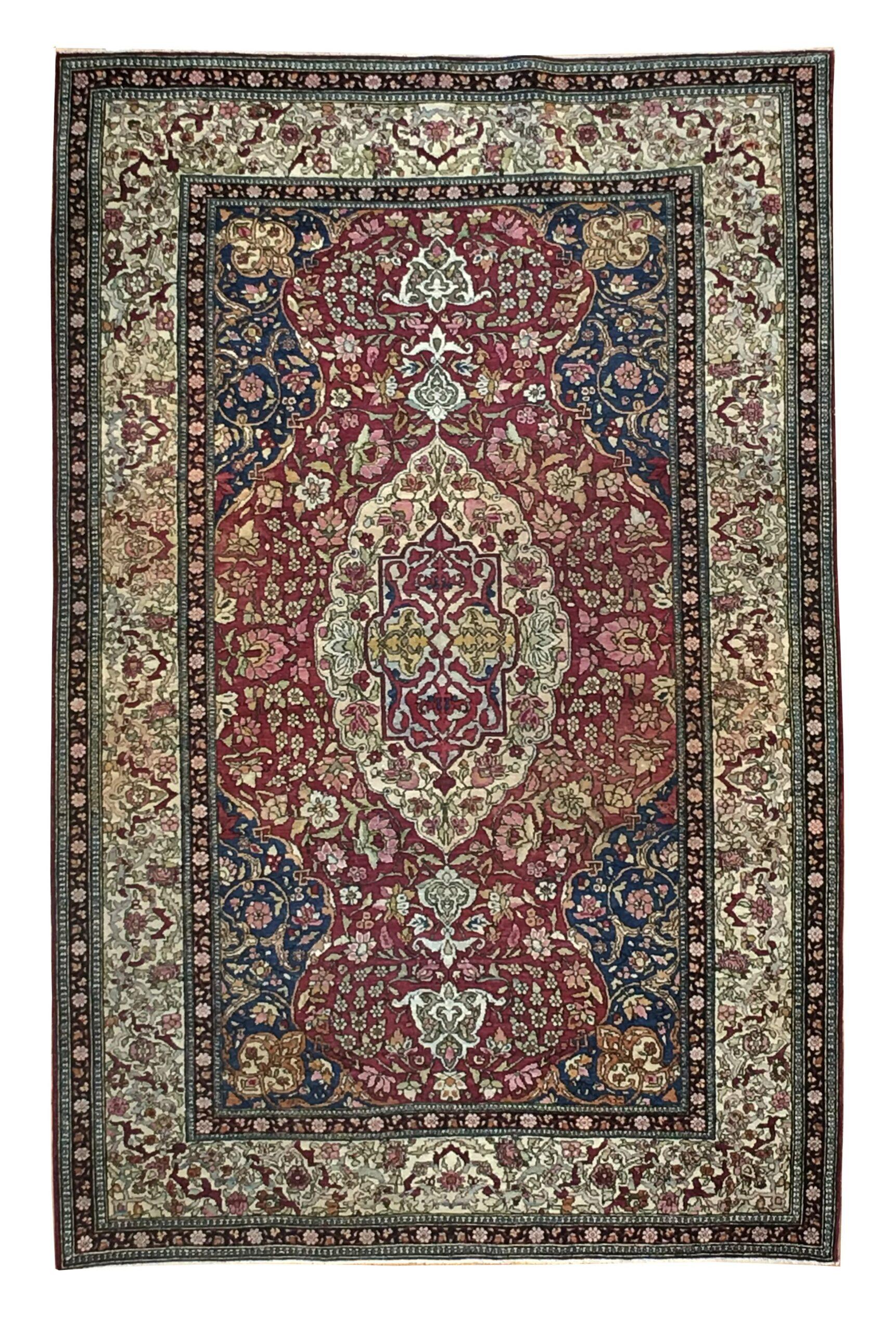 """Antique Persian Esfahan 4' 4"""" x 7' 1"""" - Shabahang Royal Carpet"""