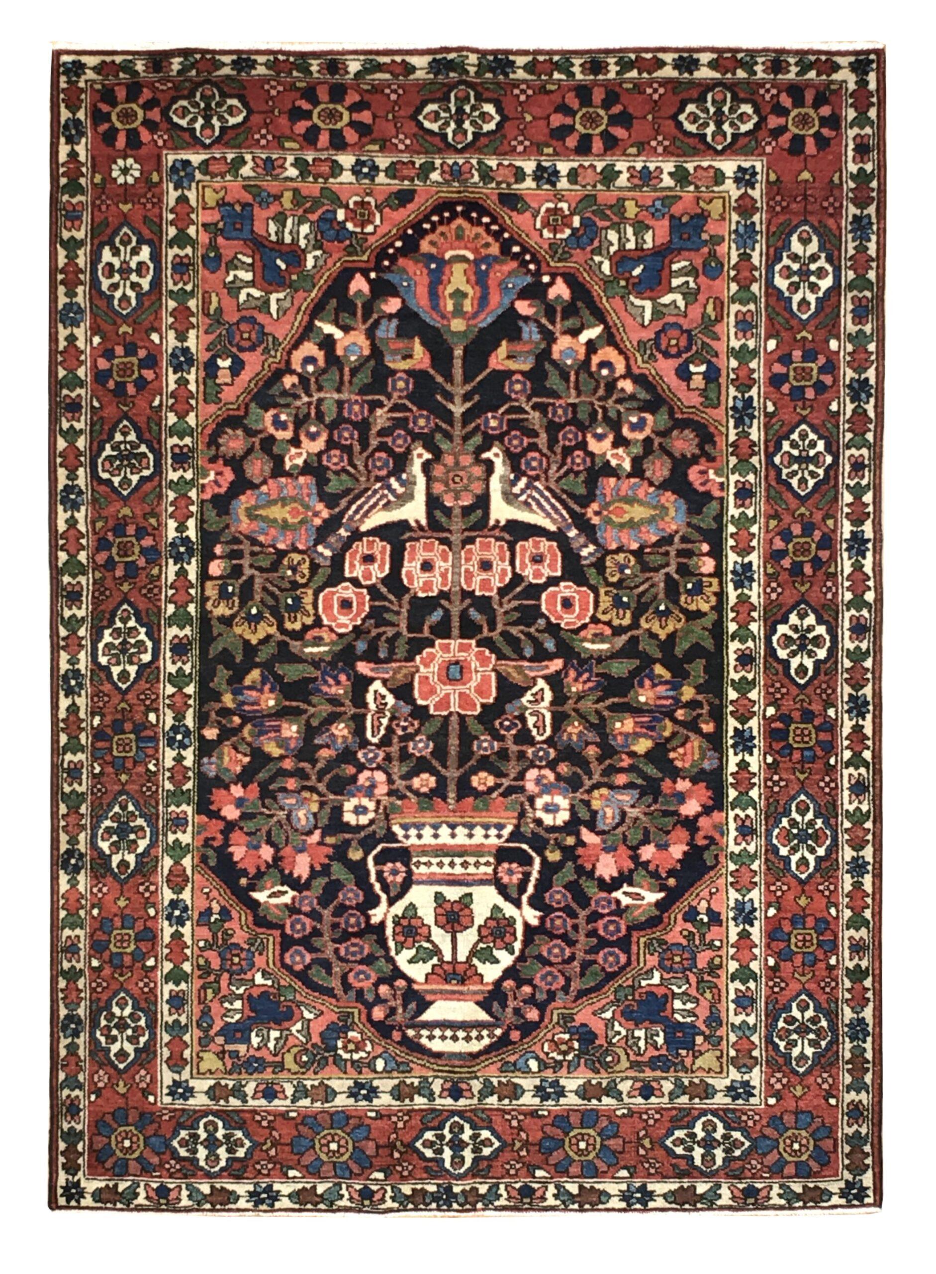 "Antique Persian Bakhtiari 4' 10"" x 6' 10"" Handmade Wool Area Rug - Shabahang Royal Carpet"
