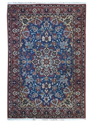 "Vintage Persian Esfahan 3' 5"" x 5' 3"" Handmade Wool Area Rug - Shabahang Royal Carpet"