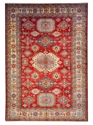 "Super Kazak 9' 10"" x 13' 9"" Handmade Area Rug - Shabahang Royal Carpet"