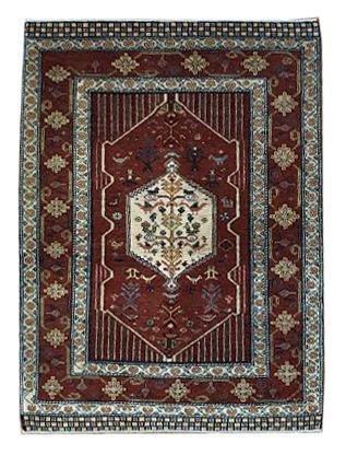 """Persian Gabbeh 4' x 5' 5"""" Wool Handmade Area Rug - Shabahang Royal Carpet"""