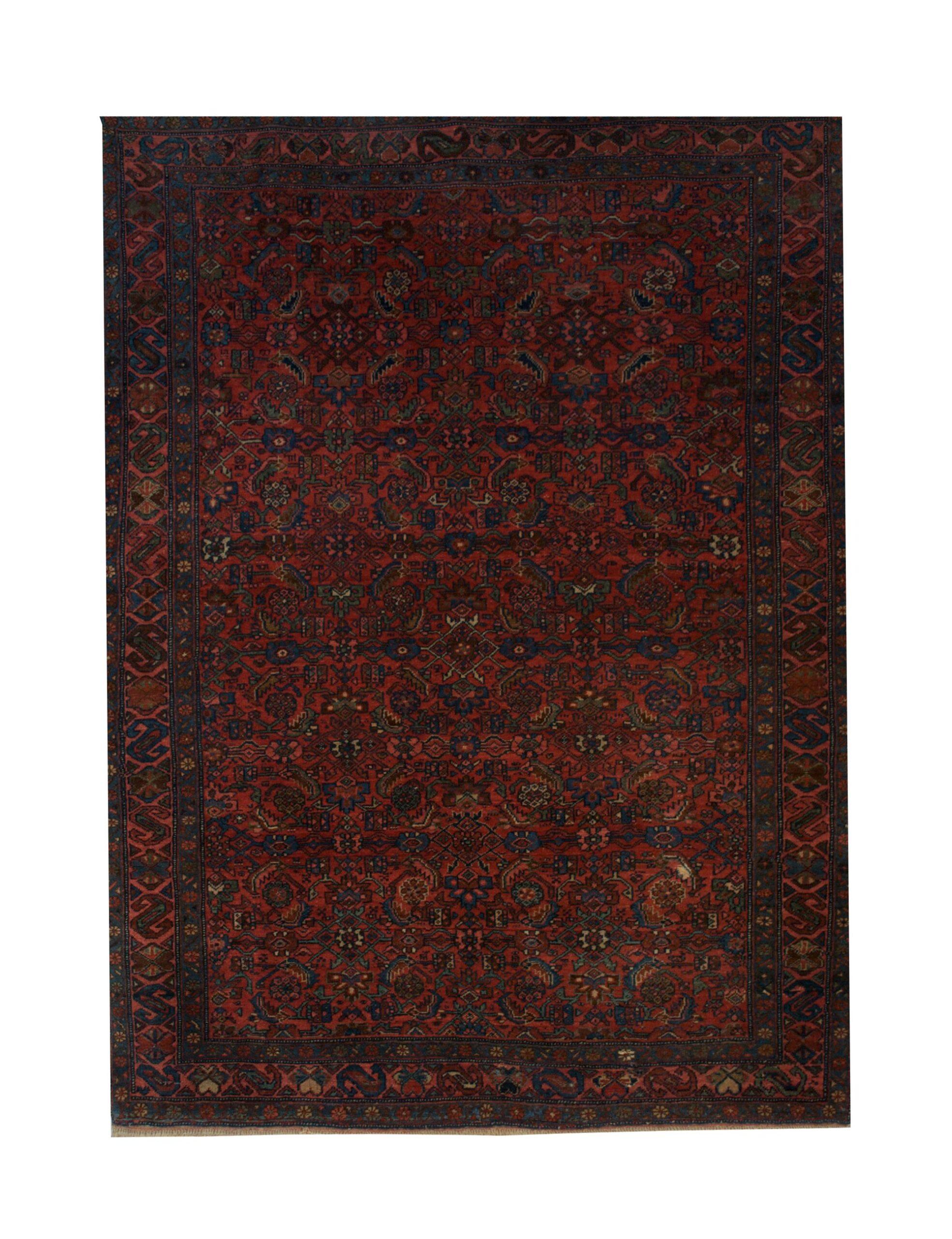 "Antique Persian Bijar 4' 9"" x 6' 6"" - Shabahang Royal Carpet"