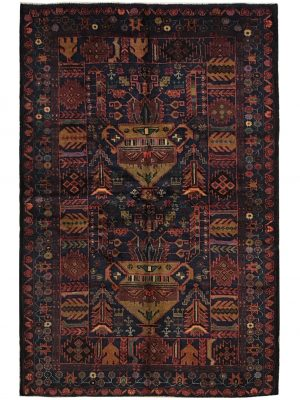 "Balouchi Tribal 4' 2"" x 6' 6"" Wool Handmade Area Rug - Shabahang Royal Carpet"