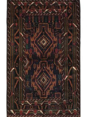 "Balouchi Tribal 3' 6"" x 5' 9"" Wool Handmade Area Rug - Shabahang Royal Carpet"