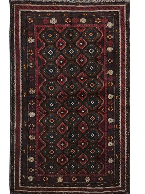 "Balouchi Tribal 4' x 6' 8"" Wool Handmade Area Rug - Shabahang Royal Carpet"