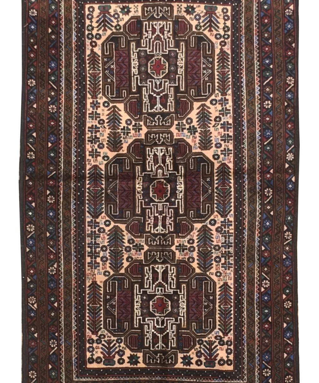 "Balouchi Tribal 3' 6"" x 6' 1"" Wool Handmade Area Rug - Shabahang Royal Carpet"