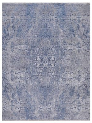 "Erased Heritage 8' x 10' 5"" Handmade Area Rug - Shabahang Royal Carpet"