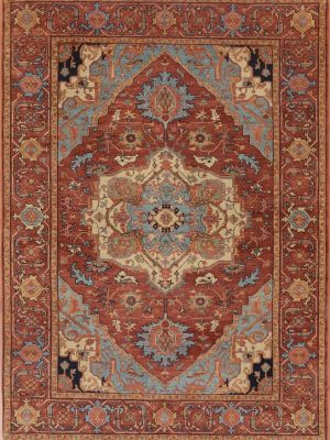 "Heriz 5' x 6' 10"" Wool Handmade Area Rug - Shabahang Royal Carpet"