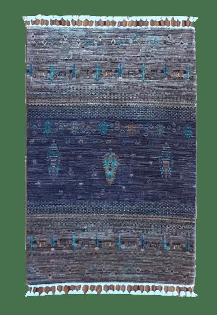 "Samarkand 2' 6"" x 4' Handmade Area Rug - Shabahang Royal Carpet"