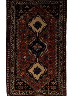 "Persian Yallameh 1' 10"" x 3' 1""  Handmade Area Rug - Shabahang Royal Carpet"