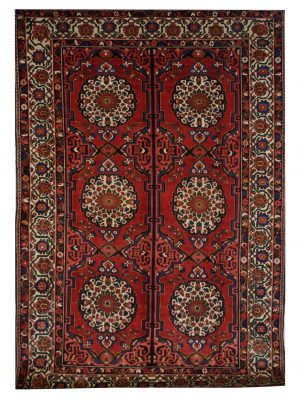 "Vintage Persian Bakhtiari 7' 3"" x 10' 2"" Handmade Wool Area Rug - Shabahang Royal Carpet"