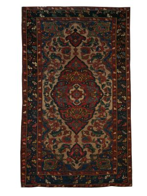 "Antique Persian Bakhtiari 3' 11"" x 6' 7"" Handmade Wool Area Rug - Shabahang Royal Carpet"