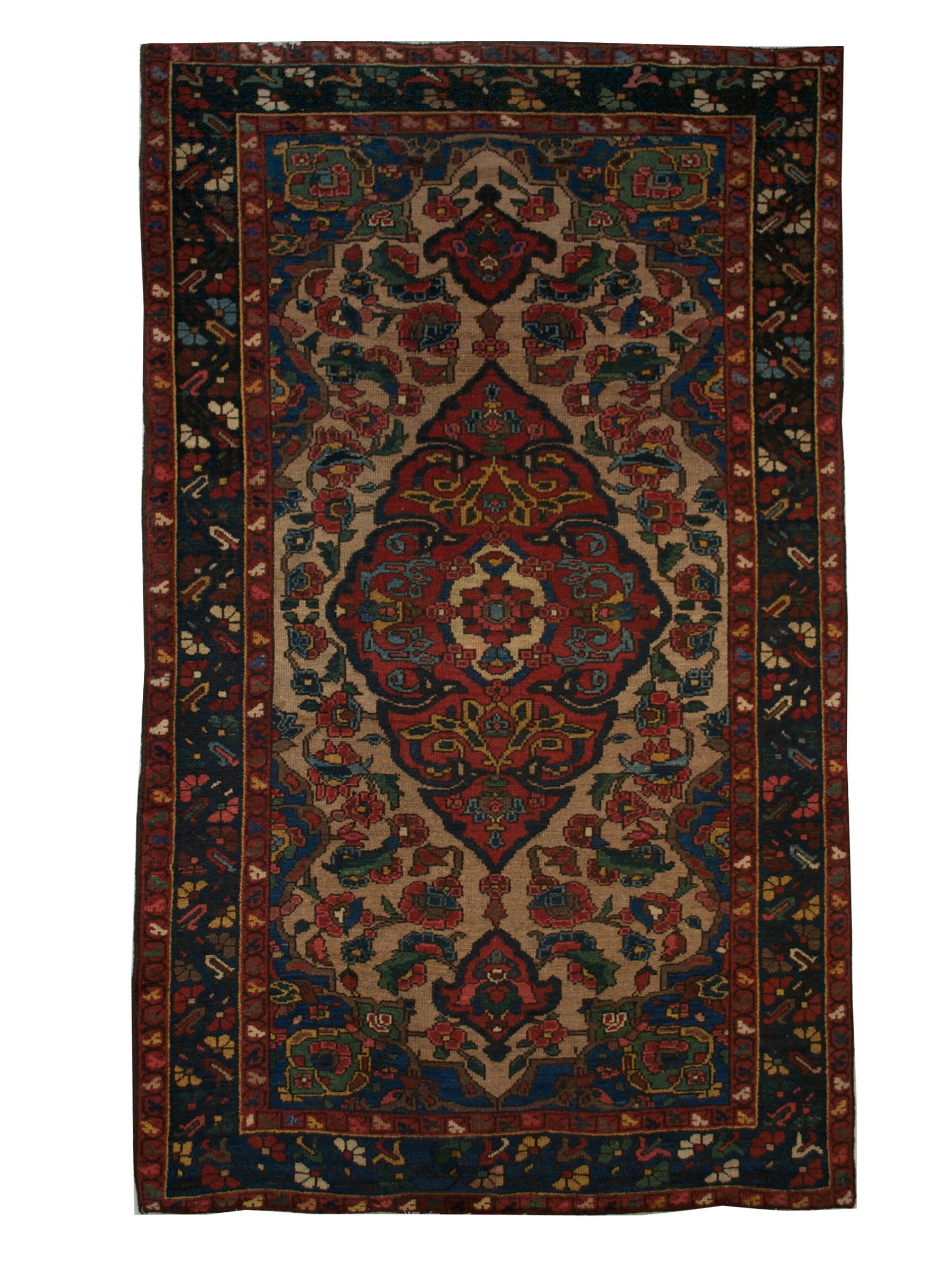 "Antique Persian Bakhtiari 3' 11"" x 6' 7"" Handmade Wool Area Rug - Shabahang Royal Carpet"