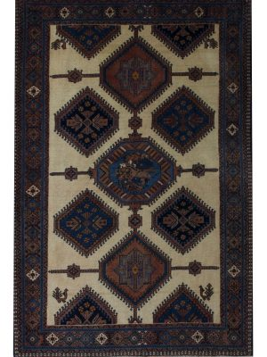 "Persian Yallameh 3' 5"" x 5' 1"" Biege Wool Handmade Area Rug - Shabahang Royal Carpet"