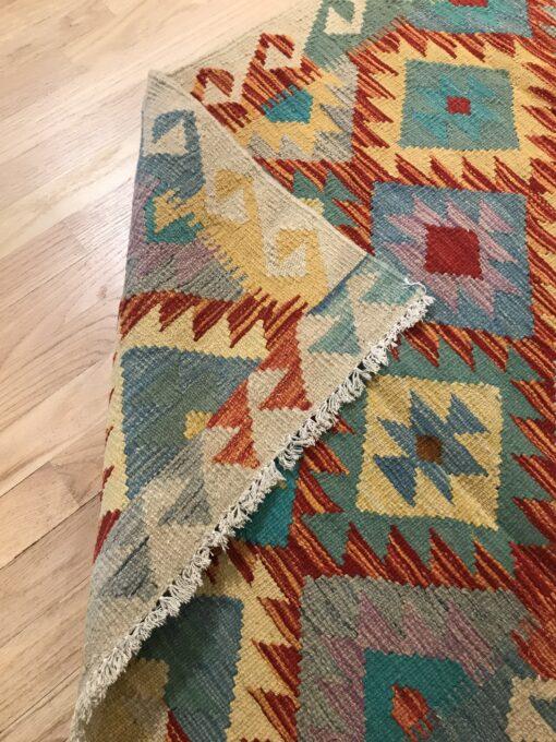 """Handmade Colorful Kilim 2' 9"""" x 3' 10"""" - Shabahang Royal Carpet"""
