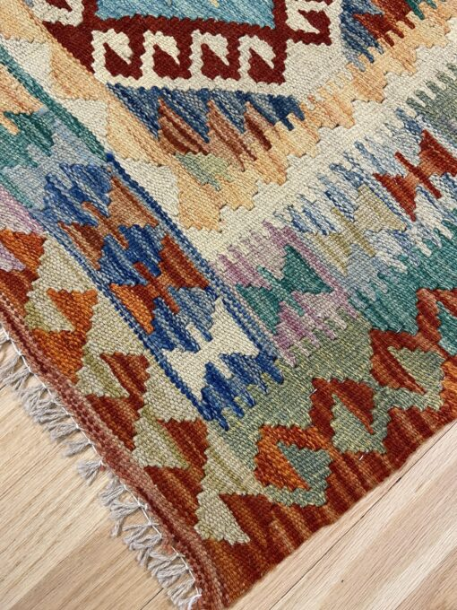 "Handmade Colorful Kilim 2' 7"" x 3' 11"" - Shabahang Royal Carpet"