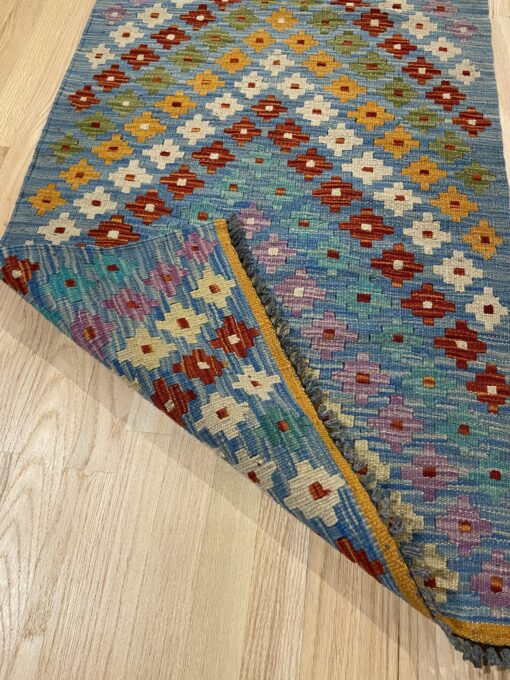 "Handmade Colorful Kilim Runner 2' 4"" x 6' 5"" - Shabahang Royal Carpet"