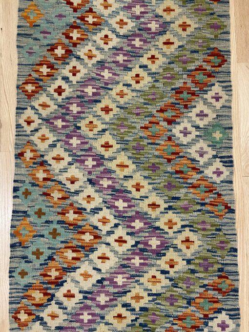 """Handmade Colorful Kilim Runner 2' 4"""" x 6' 5"""" - Shabahang Royal Carpet"""