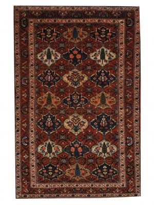 "Vintage Persian Bakhtiari 4' 5"" x 7' 7"" Handmade Wool Area Rug - Shabahang Royal Carpet"