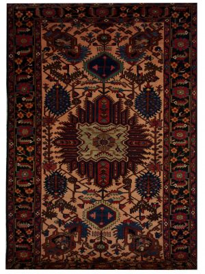 "Antique Persian Bakhtiari 7' 3"" x 10' 7"" Handmade Wool Area Rug - Shabahang Royal Carpet"