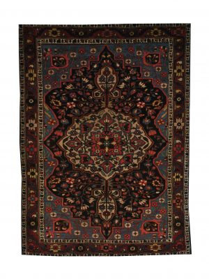 "Antique Persian Bakhtiari 4' 6"" x 6' 5"" Handmade Wool Area Rug - Shabahang Royal Carpet"