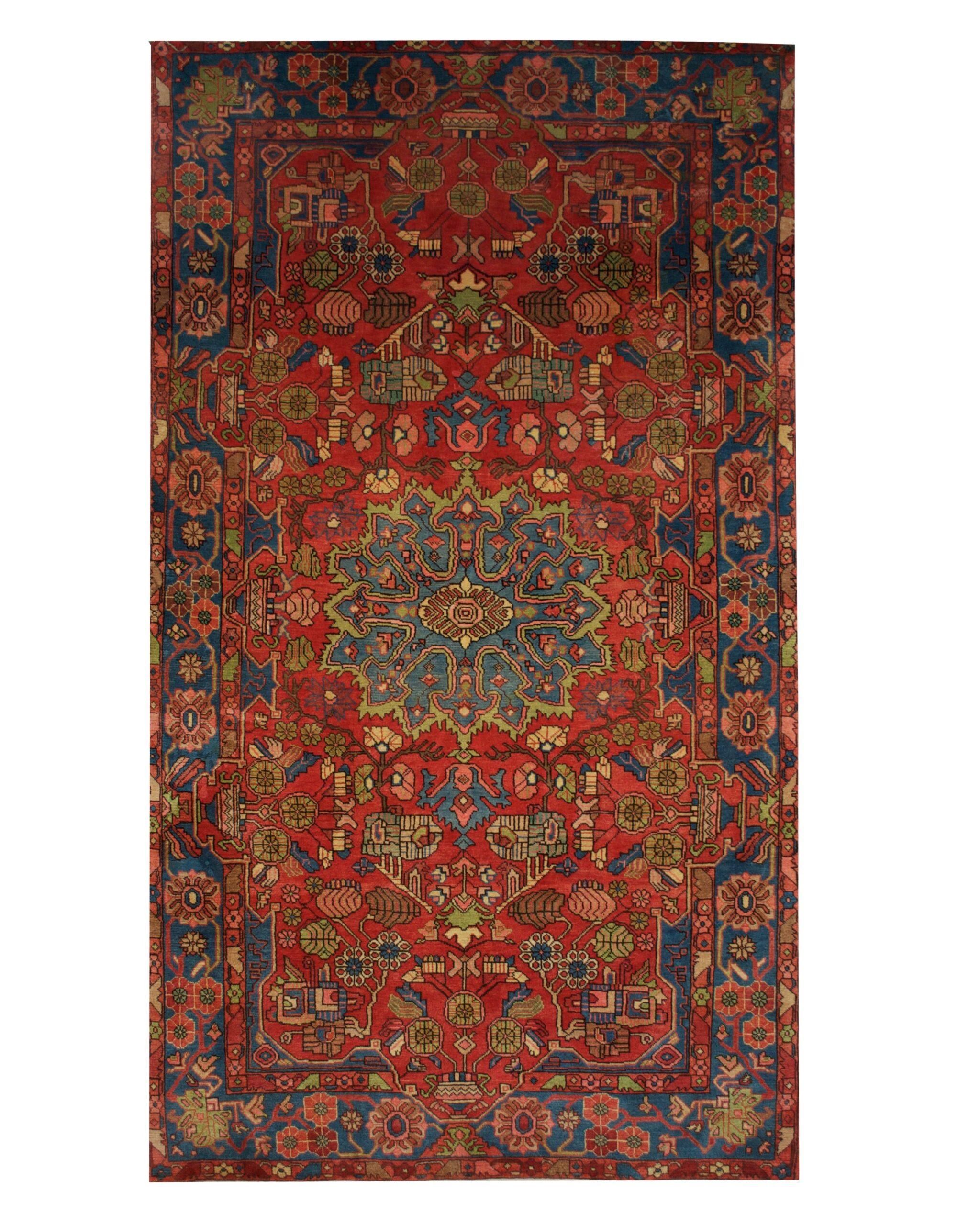 "Vintage Persian Nahavand 5' x 8' 6"" Handmade Wool Area Rug - Shabahang Royal Carpet"