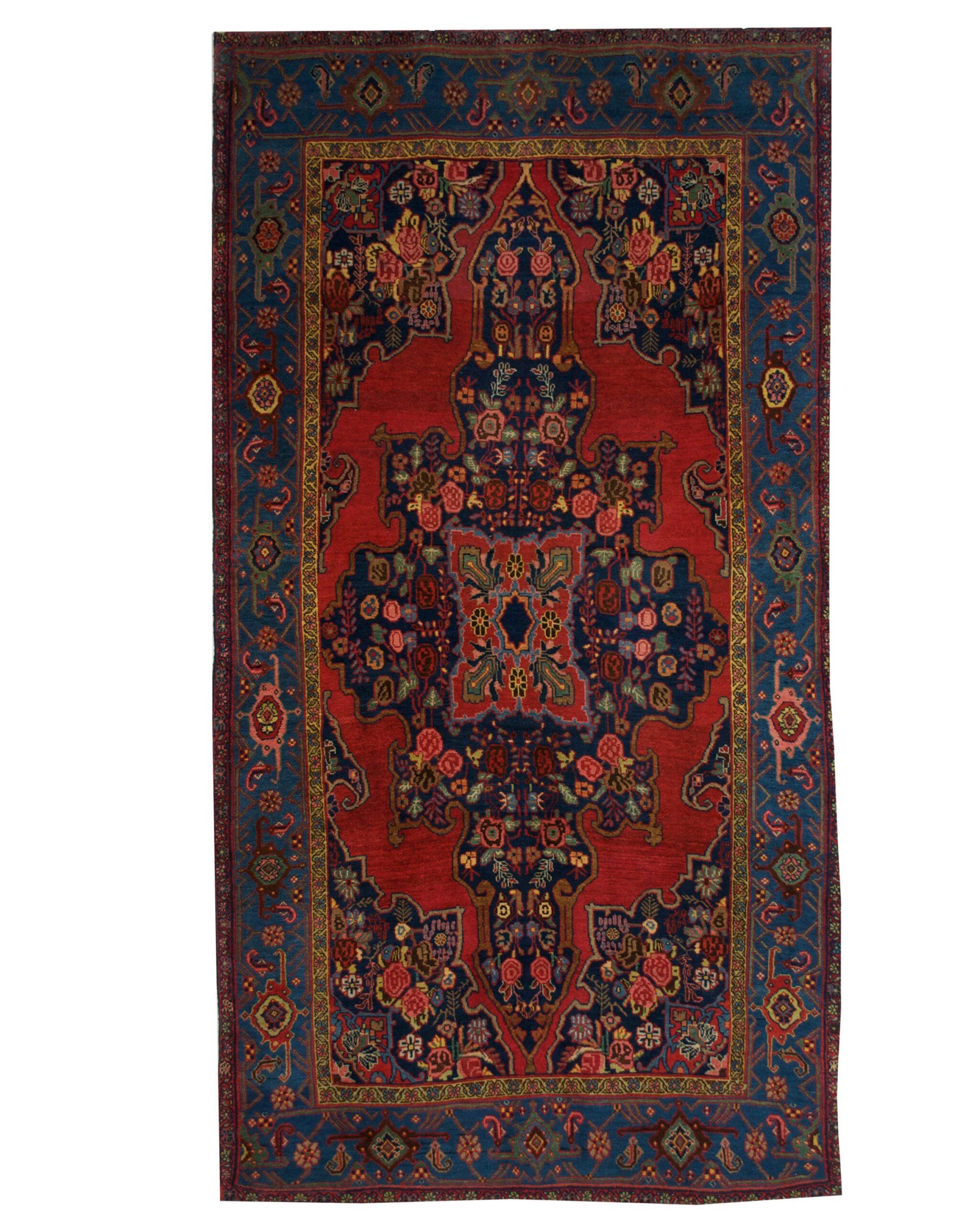 "Antique Persian Bijar 4' 10"" x 9' Handmade Wool Area Rug - Shabahang Royal Carpet"